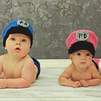Newborn Hat  Police Officer Hat and Diaper Cover by BeyondGenesis
