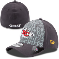 Men's New Era Graphite Kansas City Chiefs NFL Draft 39THIRTY Flex Hat