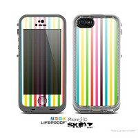 The Bright Vector Striped Skin for the Apple iPhone 5c LifeProof Case