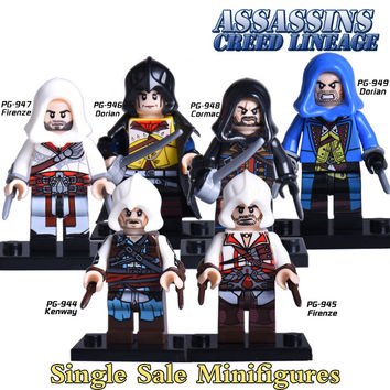 1PC New Movice Assassin's Creed Minifigures Kenway Dorian Cormac Firenze Building Blocks Superheroes Bricks kids Toys Xmas Gift