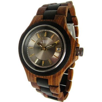 Tense Maple Wood Two Tone Sandalwood Mens Watch G4302SD Silver/Gold