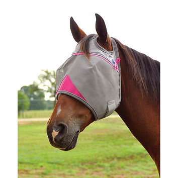 Fly Mask for Horses | Cashel Crusader pink trim fly mask supporting breast cancer
