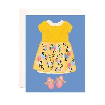 BABY GIRL DRESS GREETING CARD
