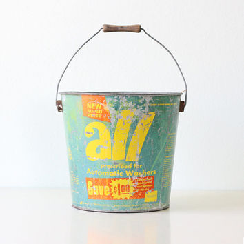 Vintage ALL Bucket - Metal All Brand Laundry Detergent Pail