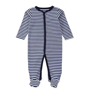 2017 Newborn Rompers Baby Boy Clothes Long Sleeve Cotton Body Baby Girl Clothes Black Stripped Autumn Baby Romper Clothing