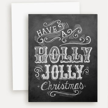 Holly Jolly Christmas - A2 Note Card