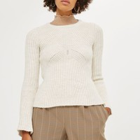 Knitted Peplum Jumper - Sweaters & Knits - Clothing