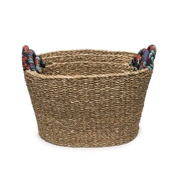 Tall Chindi Handle Baskets - Set of 3 Graduated - Matr Boomie (Basket)