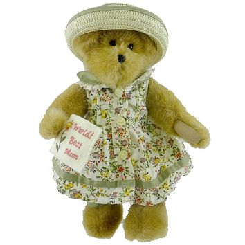 Boyds Bears Plush MOMMA BEARYBEST Fabric Mothers Day Card 82556 Rfb