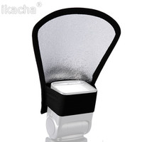 1pcs Universal Flash Diffuser Softbox Silver White Reflector for Canon Nikon Pentax Yongnuo Speedlite Photography Studio Photo