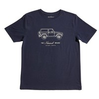 Bronco Short Sleeve Tee in Navy & Oak by The Normal Brand