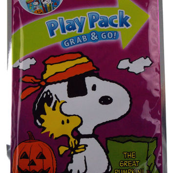 Snoopy Peanuts Play Pack Grab Go Set 11 Coloring Book Crayons Stickers Halloween