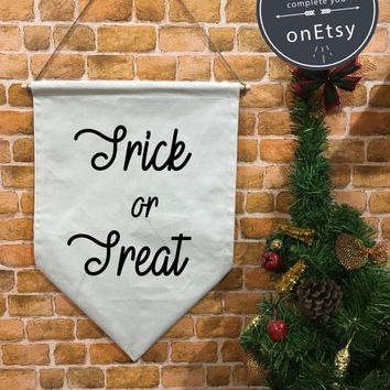 Halloween baner flag hanging wall banner flag, Trick or Treat flag, Halloween Decor, Halloween banner, wall hanging decoration funny gifts