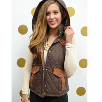 Cabin Fever Brown Puffer Vest