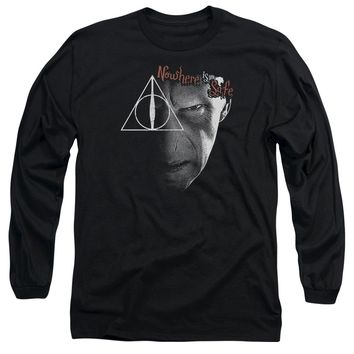 Harry Potter - Nowhere Is Safe Long Sleeve Adult 18/1 Officially Licensed Shirt