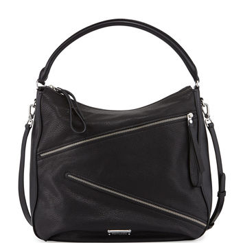 Marc By Marc Jacobs Serpentine Goat Leather Hobo Bag, Black LAVELIQ