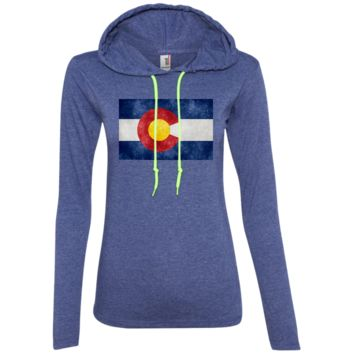 Retro Colorado Ladies LS T-Shirt Hoodie