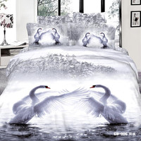 Dancing Swans 3D Bedding Set