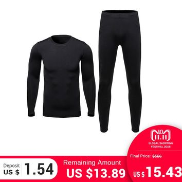 HEROBIKER Men's Thermal Underwear Sets Outdoor Sports Hot-Dry Winter Warm Thermo Underwear Bicycle Skiing Long Johns Base Layers