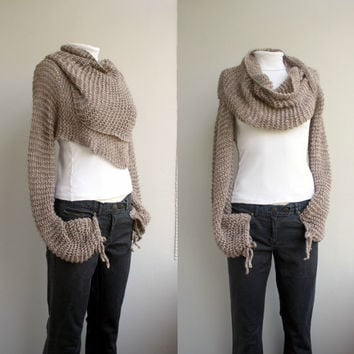 FREE Shipping New Season Milky  Brown  Wrap Bolero Scarf Shawl Neckwarmer gift for Women Girl Mom Valentines Day gift