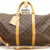 by8791 Auth LOUIS VUITTON Keepall Bandouliere 50 Monogram Boston Hand Bag M41416