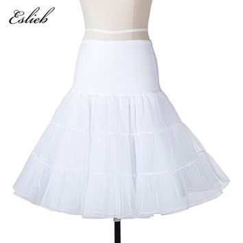 Eslieb Short Organza Petticoat Crinoline Vintage Wedding Bridal Petticoat for Wedding Dresses Underskirt Rockabilly XF011