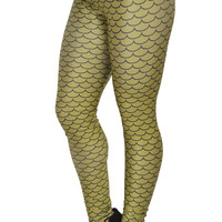 Light Green Mermaid Leggings Design 230