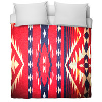 Tribal print bed cover