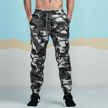 New Men's Casual Camo Pants Cotton Chino Jogger Pants Man Fitted Trace Twill Pants Male Camouflage Trousers