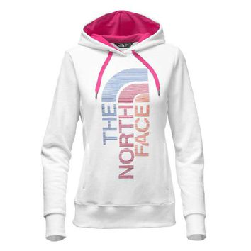 The North Face Trivert Logo Pullover Hoodie for Women in TNF White NF00CH2W-HPN