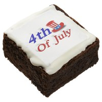 4th of July Uncle Sam Hat 3D Brownies