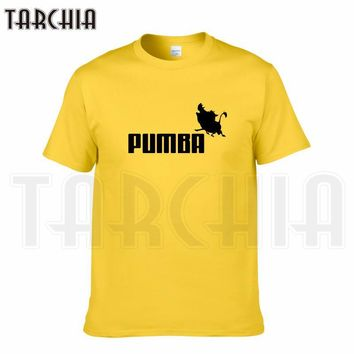 TARCHIA 2016 new brand PUMBA Lion King t-shirt cotton tops tees men short sleeve boy casual homme tshirt t shirt plus fashion
