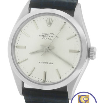 MINT Rolex Oyster Perpetual Air-King Silver Blue Stainless 5500 34mm Watch 14000