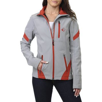 Halifax Traders Softshell Women's Fleece Lined Striped Full Zip Active Jacket