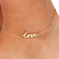 Gold Love Anklet