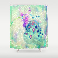 Butterfly Shower Curtain by Haroulita
