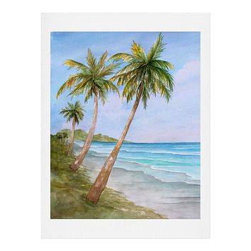 Rosie Brown Swaying Palms Art Print
