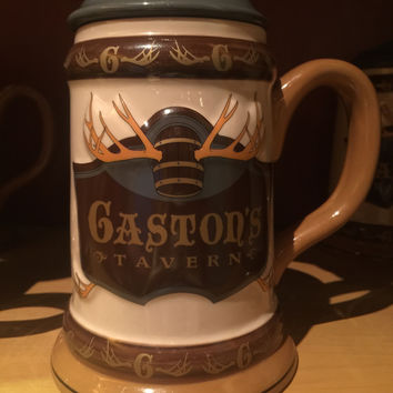 disney parks stein beauty & the beast gaston's tavern 24 oz ceramic mug new