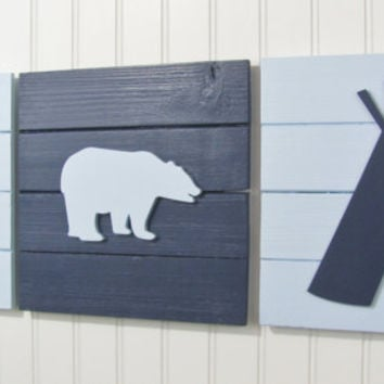 Tribal Nursery, Nursery Decor, Tribal Decor, Woodland Decor, Woodland Nursery , Pallet Board, Pallet Sign, Tee Pee, Woodland Animals, Bear