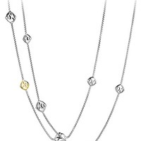 Women's David Yurman 'Chain' DY Logo Chain Necklace with Gold - Two Tone