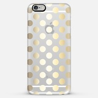 Faux Gold Polka Dots - Transparent iPhone 6 Plus case by Perrin Le Feuvre | Casetify