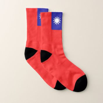 All Over Print Socks with Flag of Taiwan