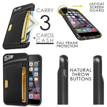 Fashion TPU Leather Credit Card ID Holder Wallet Case Cover for iPhone 4 4S 5 5S 6 6 Plus = 1932480260