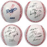 2013 Team Roster Signature Ball - Los Angeles Dodgers