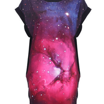 Starry Front Loose T-shirt [NCTD0152] - $30.75 :