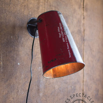 Recycled Bucket Wall Lamp