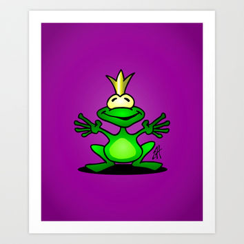 The frog prince Art Print by Cardvibes