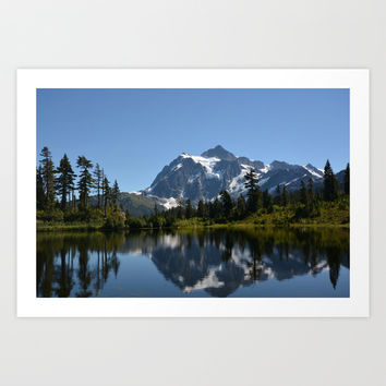 Mount Shuksan from Picture Lake Art Print by Lena Photo Art