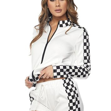 Don't Stop Checkered Two Piece Set