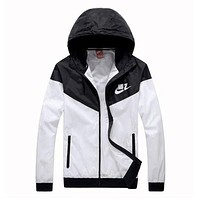 Nike Jacket Women Men Hooded Zipper Cardigan Sweatshirt Coat Windbreaker Sportswear Top